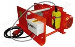 Hadef 43/86-E Three Phase Electric Wire Rope Pulling Winch Range from 125kg to 3,200kg