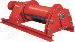 Hadef 47/05-E High-Capacity Electric Wire Rope Pulling Winch Range from 3,200kg to 32,000kg