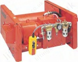 Hadef 42/87-P Pneumatic Wirerope Winch, Range from 500kg to 10,000kg