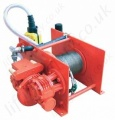 "Hadef 43/86-P ""Liftboy"" Pneumatic Wire Rope Winch, Range from 250kg to 2,000kg"