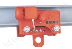 Hadef 20/94-AFE Monorail Electric Travel Beam Trolley, Range 1,000kg to 25,000kg