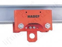 Hadef 20/94-AFR Premium Monorail Push Travel Trolley, Range 500kg to 25,000kg