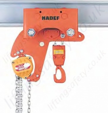 Hadef 28 98 Low Headroom Manual Chain Hoist With Trolley
