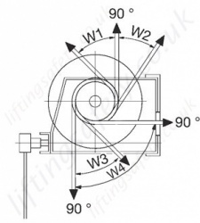 Hadef 238 10 Worm Gear Wirerope Winch Dimensions Rotation