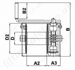 Hadef 238 10 Worm Gear Wirerope Winch Dimensions Top