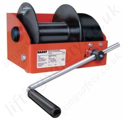 Hadef 238/10 Worm Gear Wire Rope Winch, Single or Dual Rope, Range 250kg to 5,000kg