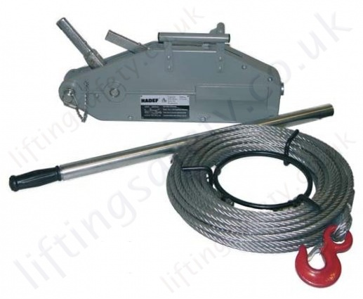 Hadef 147/05 Professional Wirerope Pull Hoist, Range 800kg to 3,200 ...