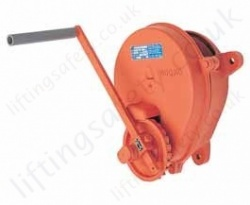 Hadef 250 33 Wall Winch With Load Pressure Brake
