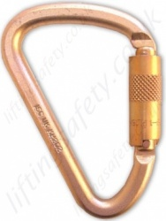"Abtech ""KH202SG"" Klettersteig Screwgate Karabiner. Rating 50kN - Gate Opening 26mm"