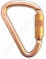 "Abtech ""KH200SG"" Off Set 'D' Screwgate Karabiner. Rating 50kN - Gate opening 20mm"