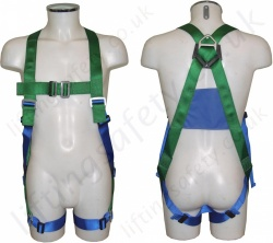 "Abtech ""AB10"" Single Point Fall Arrest Harness with rear 'D' Ring"