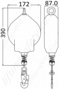 LA 10 200 10 Load Arrestor Dimensions