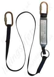 "Abtech ""ABL"" Shock Absorbing Lanyard with Karabiners or Snap Scaffold Hook - 2 Metre"