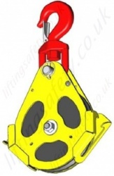 "Tractel ""EP Series"" EN 1808 Man-Riding Pulley Blocks / Snatch Blocks - 1600kg to 4800kg"