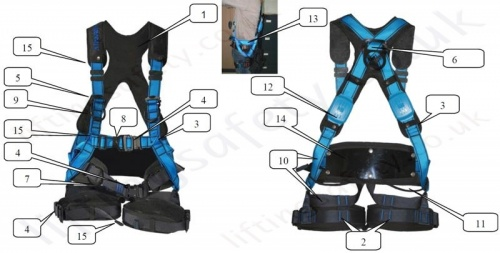 Easyclimb Harness Labelled