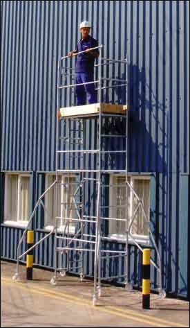 Heavy Duty Galvanised Steel Scaffold Tower 4 X 2 Or 4