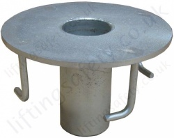 Abtech Flush Floor Mount Socket - Fresh Concrete