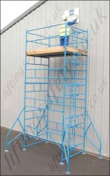 Heavy Duty Powder Coated Steel Scaffold Towers - 5' x 5', 7' x 5' or 7' x 7' Base Size