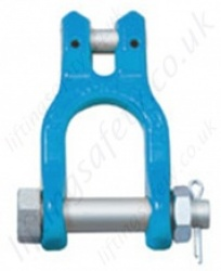 Grade 10/100 Clevis Shackle for 7 to 16mm Lifting Chain