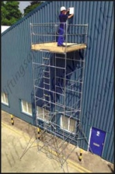 "Economy Galvanised Steel Scaffold Towers - 4' x 2'6"", 4' x 4', 6' x 2'6"", 6' x 4' and 6' x 6' Base Sizes"