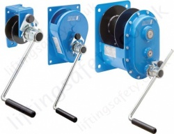 "Pfaff ""MWS"" Spur Gear Drive Manual Wire Rope Winch - 150kg to 1500kg"