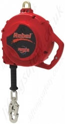 "Protecta ""Rebel"" SRL (Self Retracting Lifeline) with Galvanised or Stainless Cable and Swivel Snap Hook - 6m to 30m"