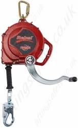 "Protecta ""Rebel Retrieval"" Self Retracting Fall Arrest Block with Built-in Rescue/Retrieval Winch Handle - 15 metre"
