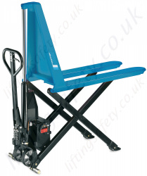 "Pfaff ""HU HS / HU ES"" Scissor Type High Lift Pallet Truck. 800mm Lifting Height. Forks 540mm x 1170mm - 1000kg"