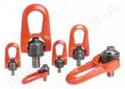 "Codipro ""DSR"" Double Swivel Lifting Point - Metric or Imperial Threads - Capacities from 50kg up to 6300kg"