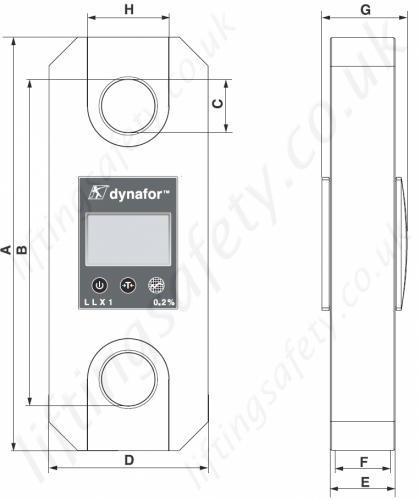 Tractel Llx1 Load Cell Dimensions
