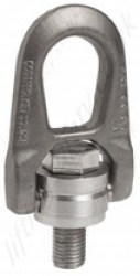 "Codipro ""SS.DSR"" Double Swivel Lifting Point - Stainless Steel -  Metric or Imperial Threads - Capacitites From 300 Kg to 3000 Kg"
