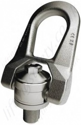 "Codipro ""SS.DSR"" Stainless Steel Double Swivel Lifting Point, Metric or Imperial Threads, Capacities From 100 Kg to 3,500 Kg"