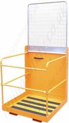 Quality Fork Truck Mounted Man-riding Access Basket for 2 persons