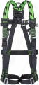 Miller Duraflex MA04 H-Design 2 Point Harness with Rear 'D' Ring & Front Webbing Loops. Standard Buckles