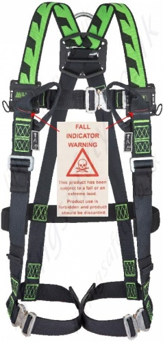 MA04 H Design Harness - Auto Buckle - Front Fall Indication