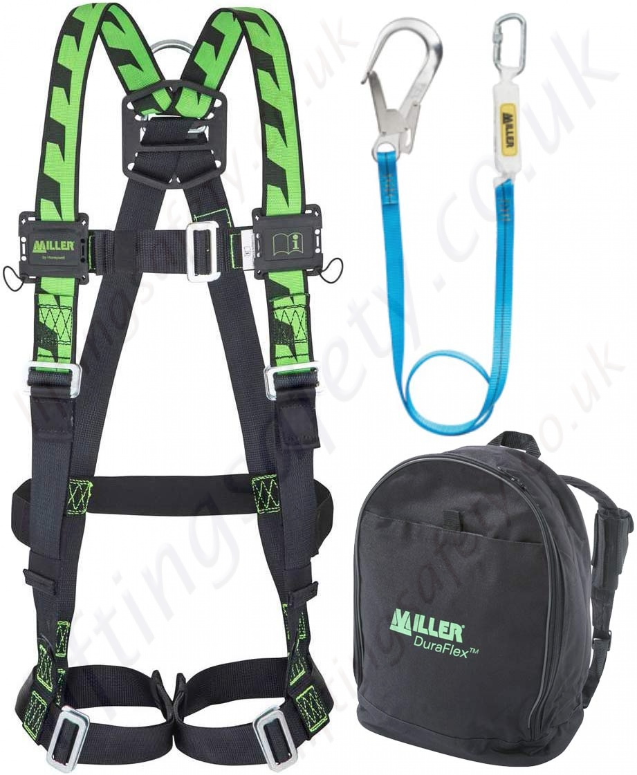 Miller Rescue Harness Lanyards Web About Wiring Diagram Roofing Kit Standard Scaffolders Fall Arrest With Single Point H Rh Liftingsafety Co Uk Protection Lanyard Safety
