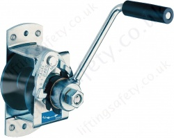 Spur Gear Hand Winch - Zinc Plated or Stainless Steel - 80 or 125kg Capacity