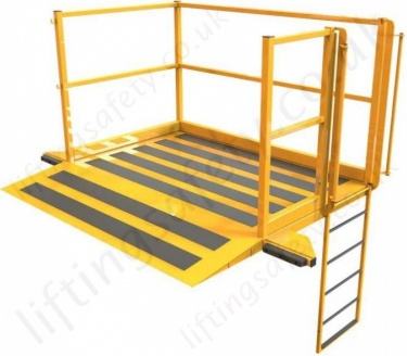 Lorry Loading Platform With Ladder Down