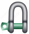Green Pin G-4151 Screw Pin Dee Shackle - Range 0.33 tonne to 55 tonne