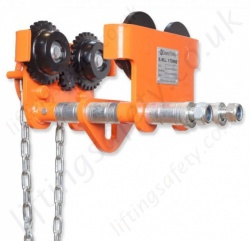 William Hackett Geared Travel Girder Trolley - Range 500kg to 10,000kg