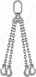 Cromox Stainless Steel Lifting Chain Sling Assemblies, Grade 6 / 60 - Chain Diameters 6mm to 13mm. WLL 900kg to 8150kg