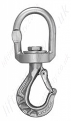 Cromox CWHB Stainless Steel, Grade 6 / 60, Swivel Sling Hook with Eyelet, WLL 0.63 tonnes to 2.5 tonnes