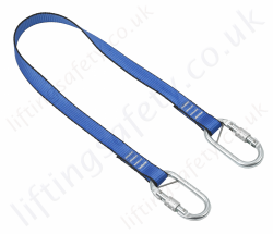 LiftingSafety Restraint Lanyard with 2 x Screwgate Karabiners - 5 Choices in Length from 1m to 2m