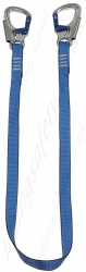 LiftingSafety Restraint Lanyard with Double Action Snap Hooks - Choice of lengths from 1m to 2m