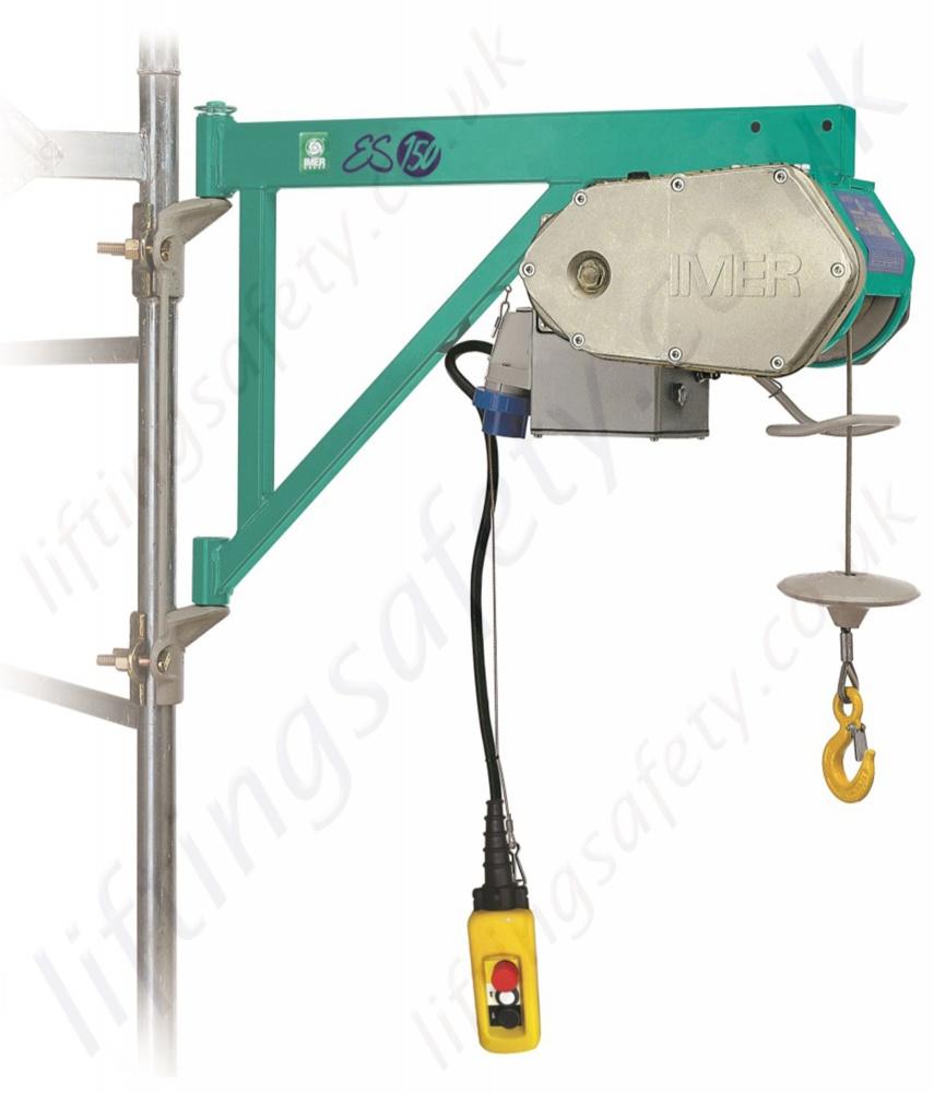 Electric Scaffold Hoist Lift : Imer es scaffold hoist or v m working height