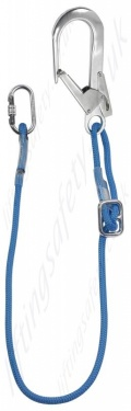 Rope Adjustable Restraint Lanyard With Scaffold Hook