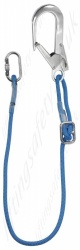 LiftingSafety Kernmantle Rope Adjustable Restraint Lanyard with Scaffold Hook and Karabiner - Length 1.5 or 2m