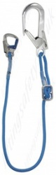 LiftingSafety Adjustable Rope Restraint Lanyard with Scaffold Hook and Snap Hook - Length 1.5 or 2m
