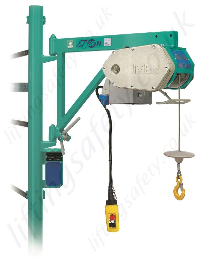 Electric Scaffold Hoist Lift : Imer et scaffold hoist or v m working height