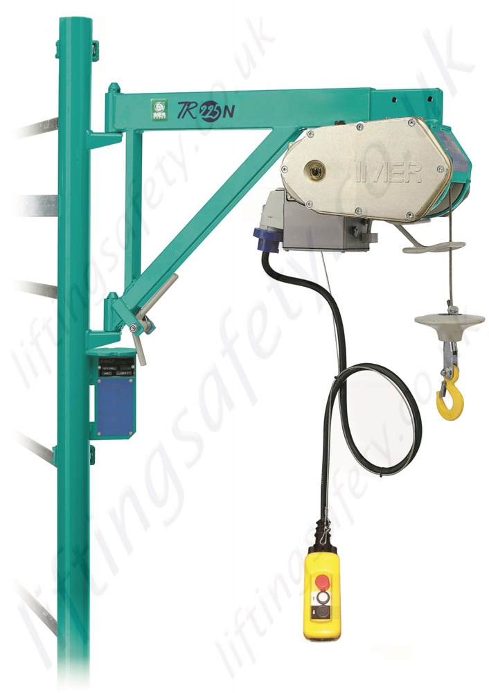Electric Scaffold Hoist Lift : Imer tr scaffold hoist with extendable bracket or